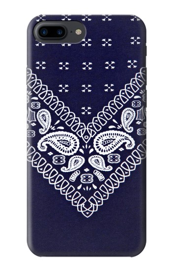 Printed Navy Blue Bandana Pattern Iphone 7 plus Case