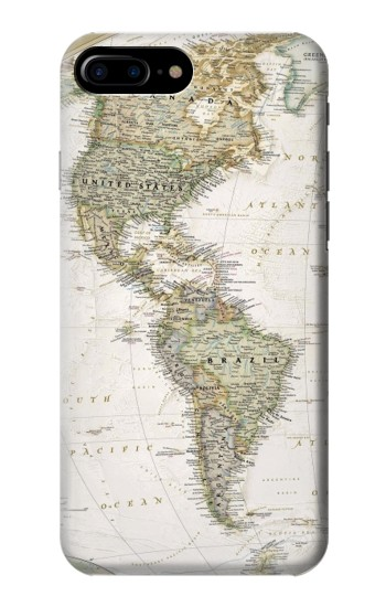 Printed World Map HTC One Max Case