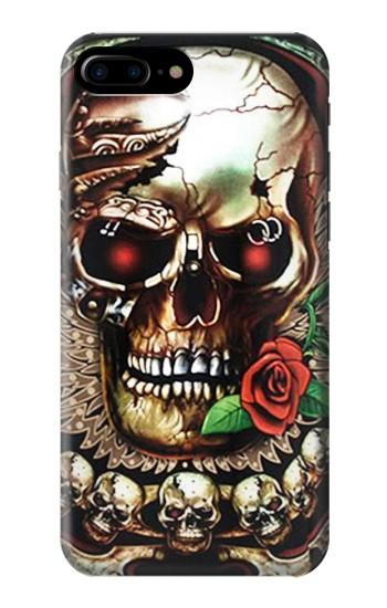 Printed Skull Wing Rose Punk HTC One Max Case