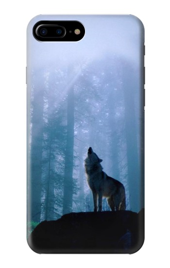Printed Wolf Howling in Forest HTC One Max Case