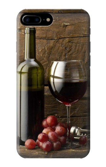 Printed Grapes Bottle and Glass of Red Wine HTC One Max Case