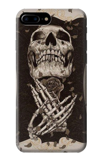 Printed Skull Rose HTC One Max Case