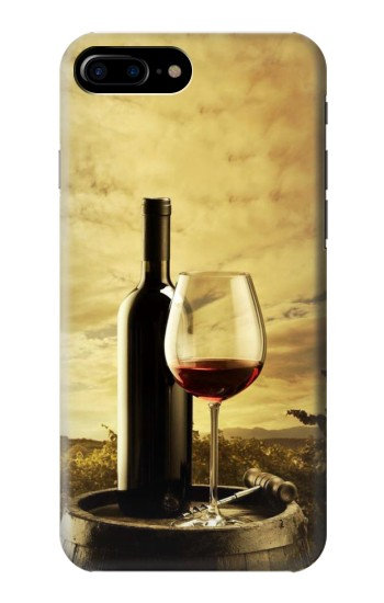 Printed A Grape Vineyard Grapes Bottle and Glass of Red Wine HTC One Max Case