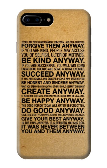 Printed Mother Teresa Anyway Quotes HTC One Max Case