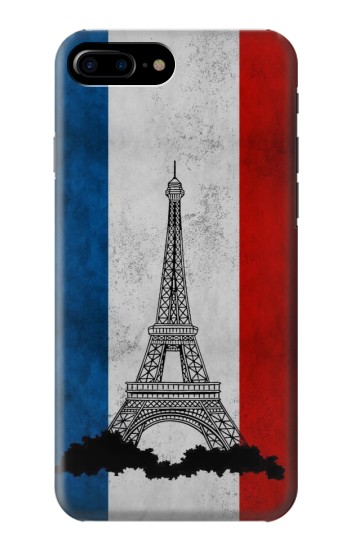 Printed Vintage France Flag Eiffel Tower HTC One Max Case