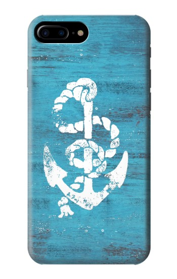 Printed Marine Anchor Blue Wooden HTC One Max Case