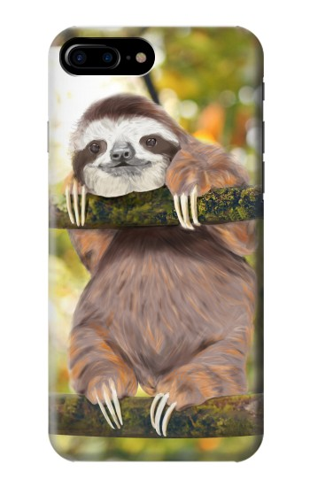 Printed Cute Baby Sloth Paint HTC One Max Case