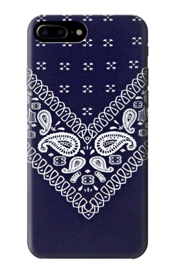 Printed Navy Blue Bandana Pattern HTC One Max Case