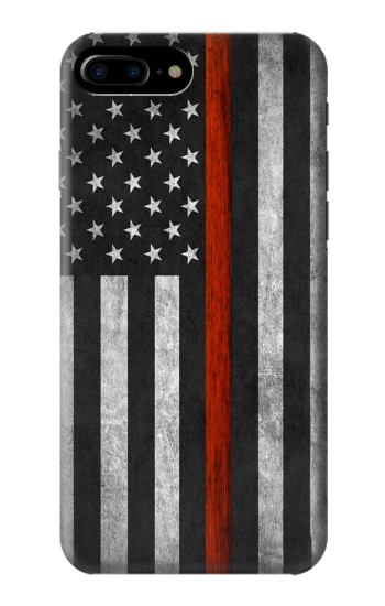 Printed Firefighter Thin Red Line Flag HTC One Max Case