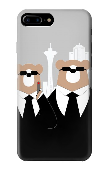 Printed Bear in Black Suit HTC One Max Case