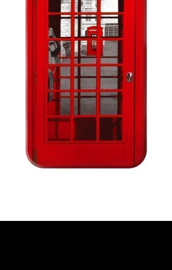Printed Classic British Red Telephone Box Iphone 4 Case