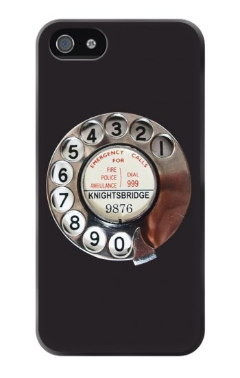 Printed Retro Rotary Phone Dial On Iphone 4 Case