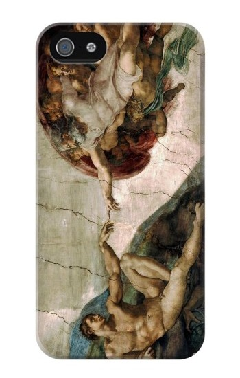 Printed Michelangelo The creation of Adam Iphone 4 Case