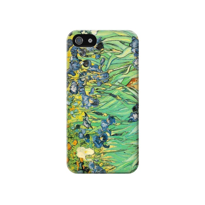 Printed Van Gogh Irises Iphone 4 Case
