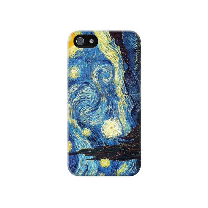 Printed Van Gogh Starry Nights Iphone 4 Case