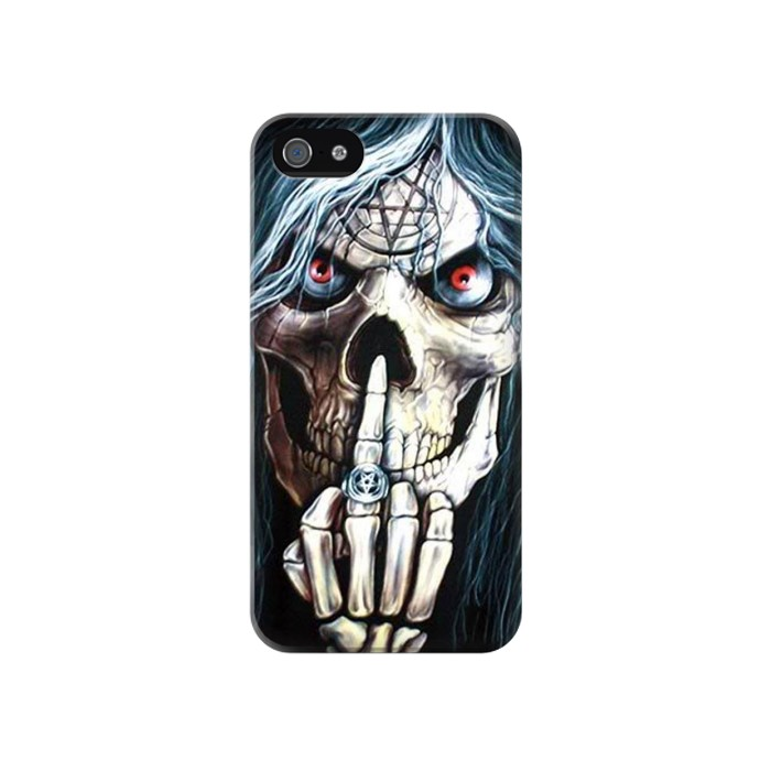 Printed Skull Pentagram Iphone 4 Case