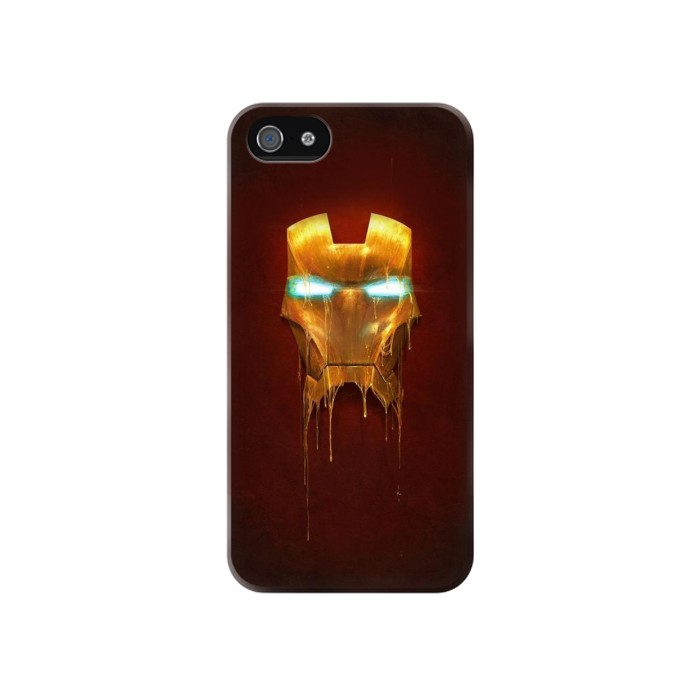 Printed Ironman Mask Iphone 4 Case