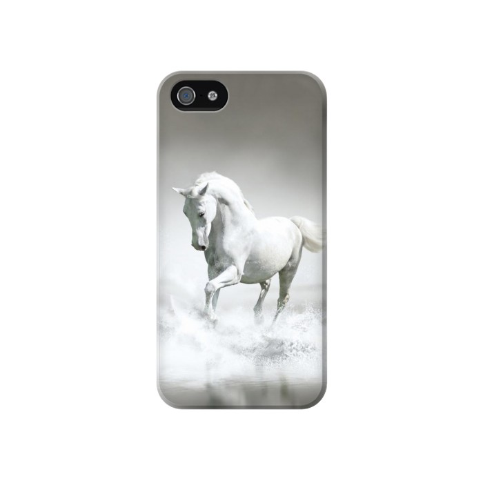 Printed White Horse Iphone 4 Case