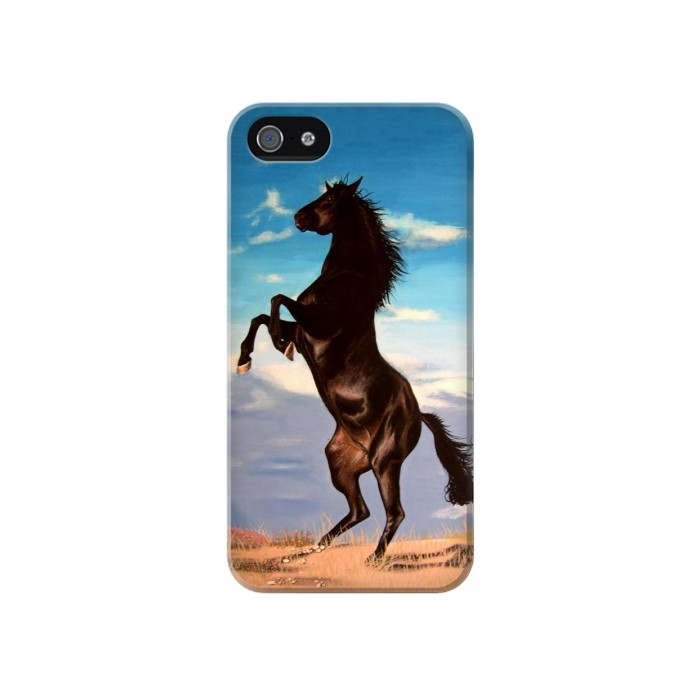 IPHONE 4 Wild Black Horse Case Cover