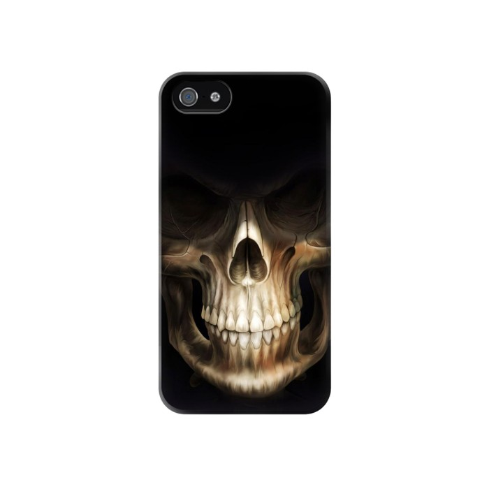 Printed Skull Face Grim Reaper Iphone 4 Case