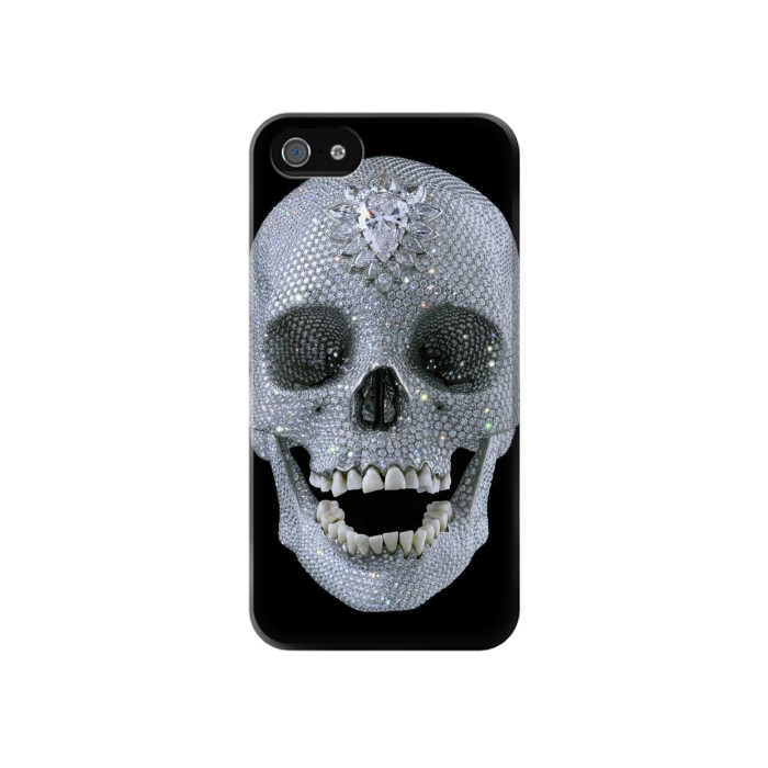 Printed Diamond Skull Iphone 4 Case
