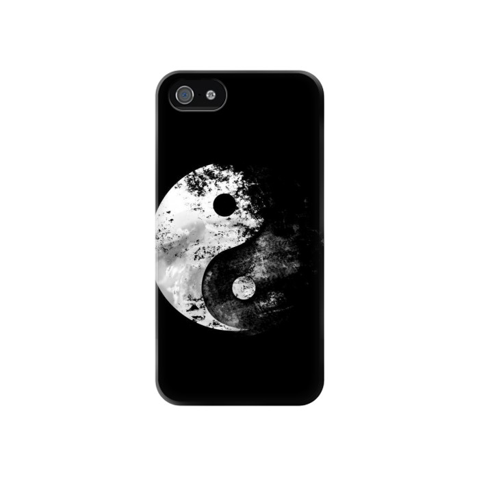 Printed Moon Yin-Yang Iphone 4 Case