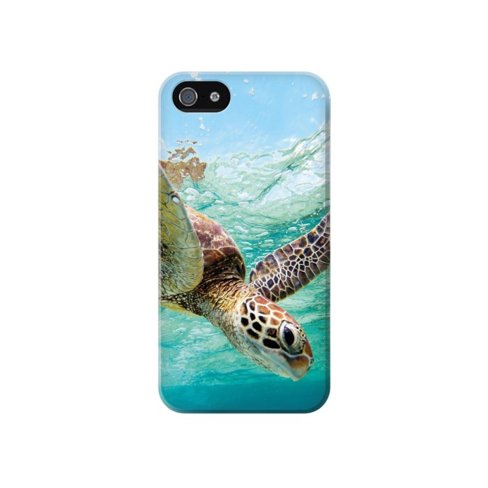 Printed Ocean Sea Turtle Iphone 4 Case