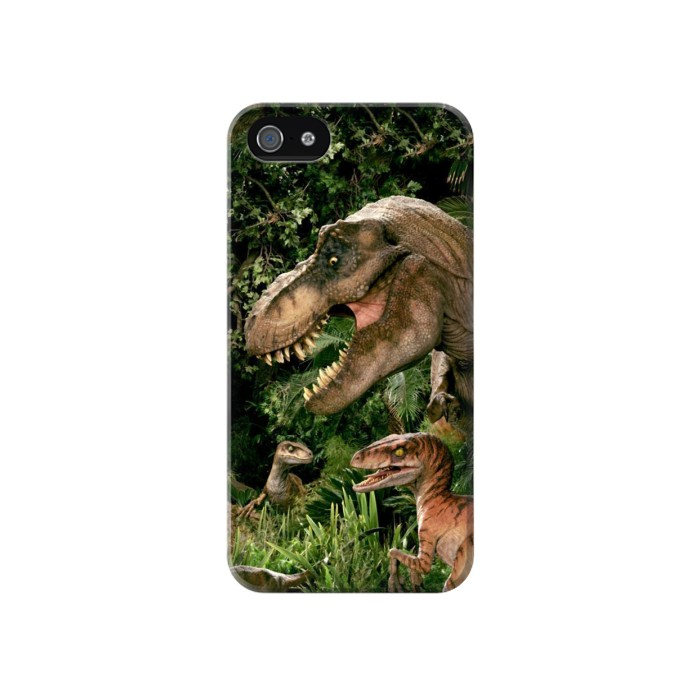 Printed Trex Raptor Dinosaur Iphone 4 Case
