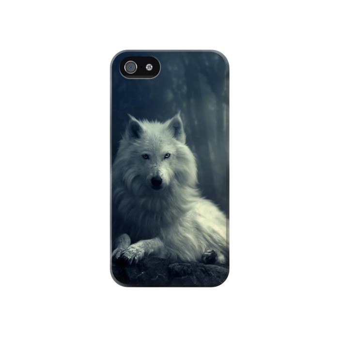 Printed White Wolf Iphone 4 Case