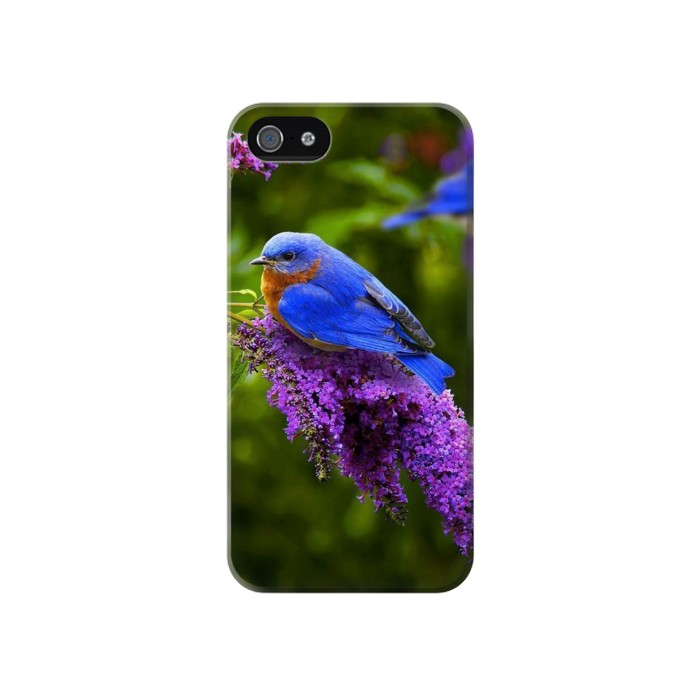 Printed Bluebird of Happiness Blue Bird Iphone 4 Case