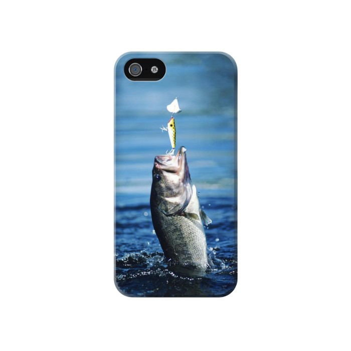 Printed Bass Fishing Iphone 4 Case