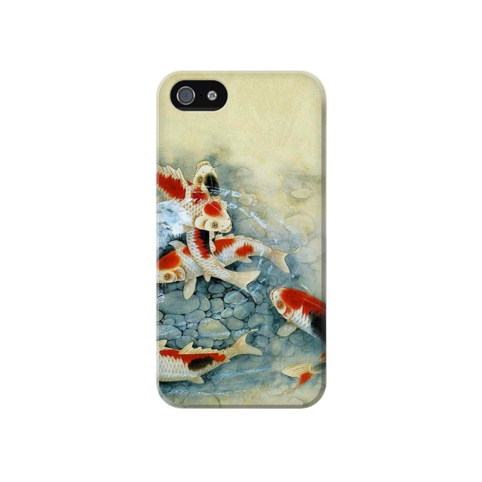Printed Koi Carp Fish Art Painting Iphone 4 Case