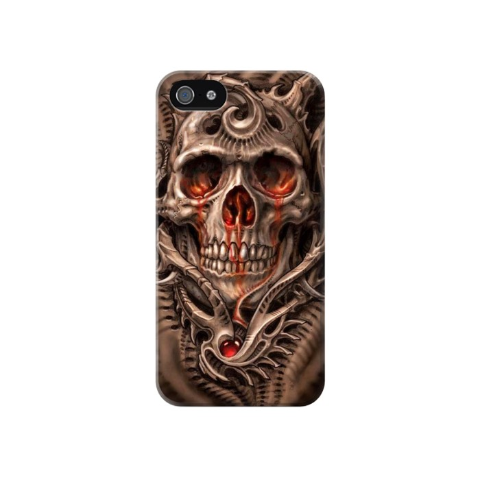 Printed Skull Blood Tattoo Iphone 4 Case
