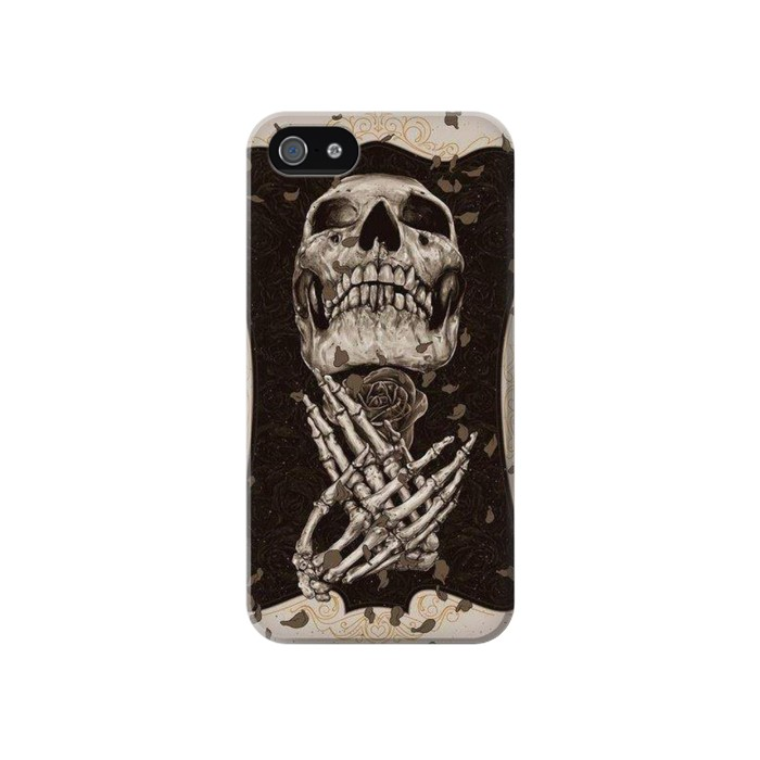 Printed Skull Rose Iphone 4 Case