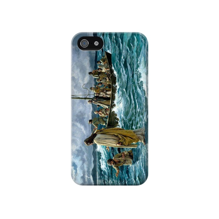 Printed Jesus Walk on The Sea Iphone 4 Case