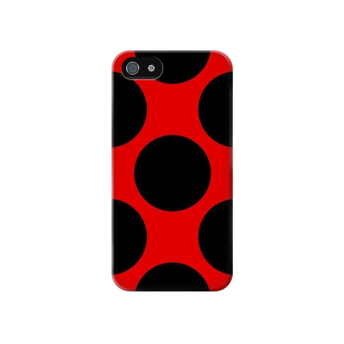 Printed Lady bug Dot Pattern Iphone 4 Case