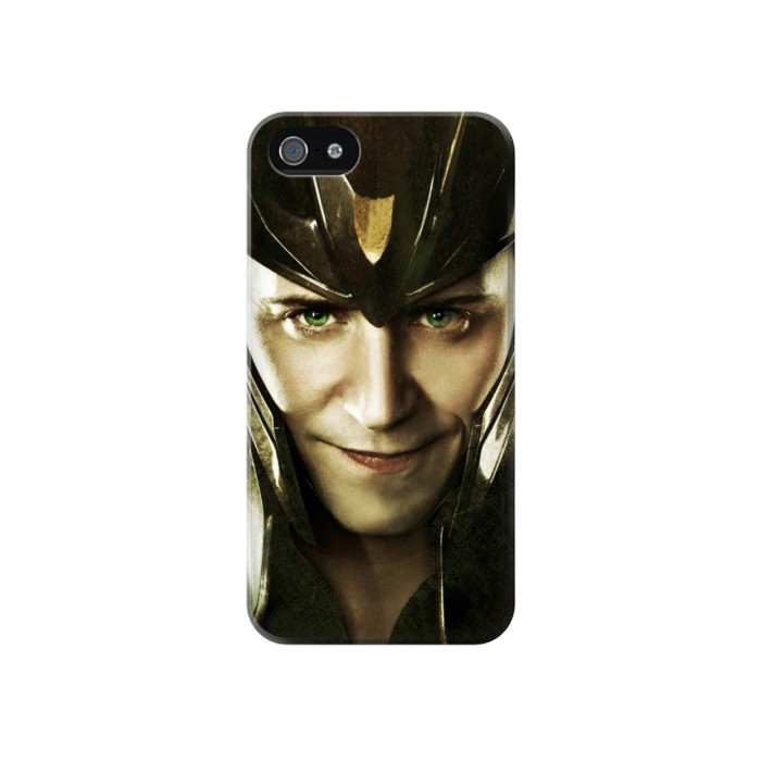 Printed Loki Face Asgard Iphone 4 Case