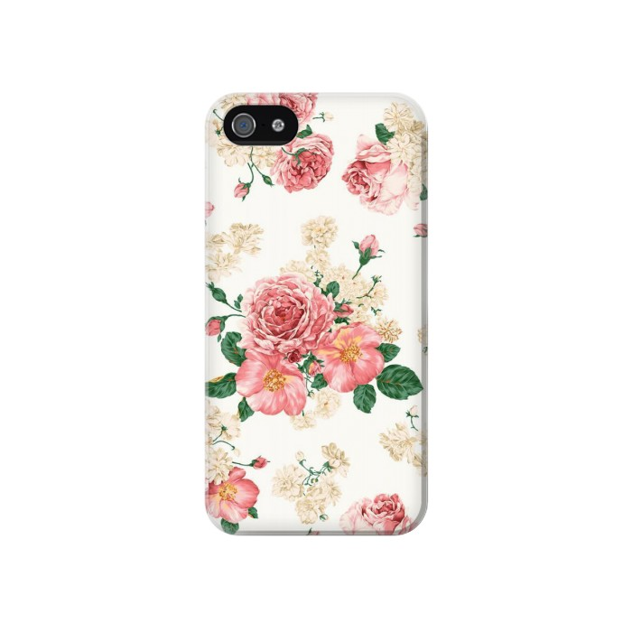 Printed Rose Pattern Iphone 4 Case