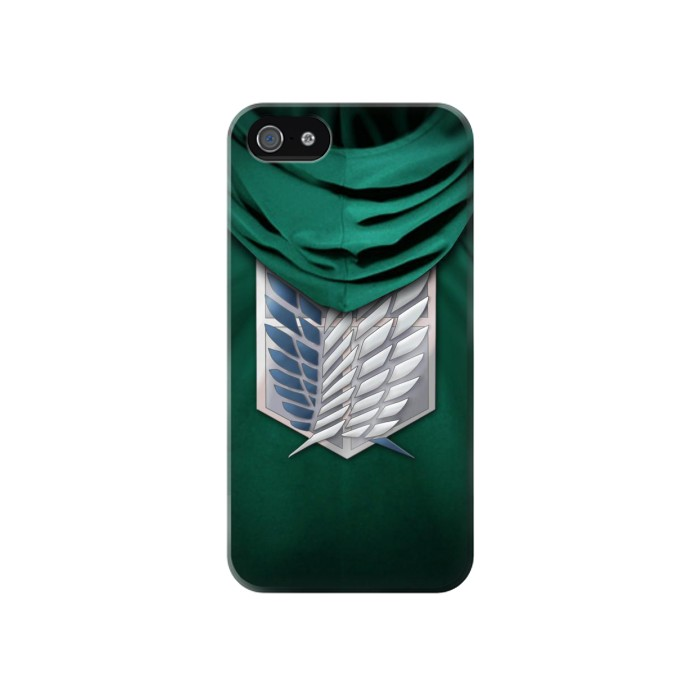 Printed Attack on Titan Scouting Legion Rivaille Green Cloak Iphone 4 Case
