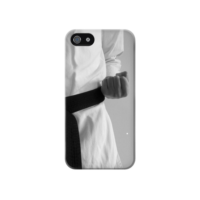 Printed Black Belt Karate Iphone 4 Case
