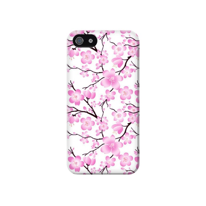 Printed Sakura Cherry Blossoms Iphone 4 Case