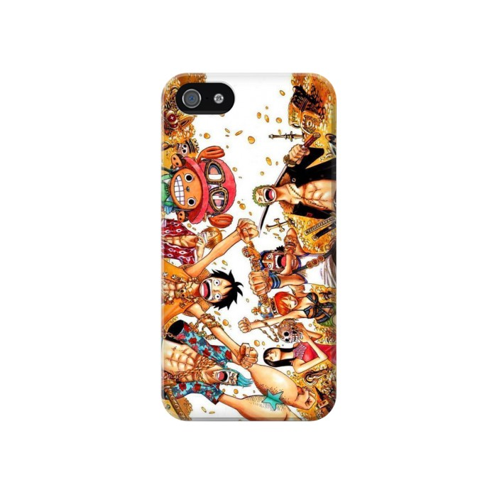 Printed One Piece Straw Hat Luffy Pirate Crew Iphone 4 Case