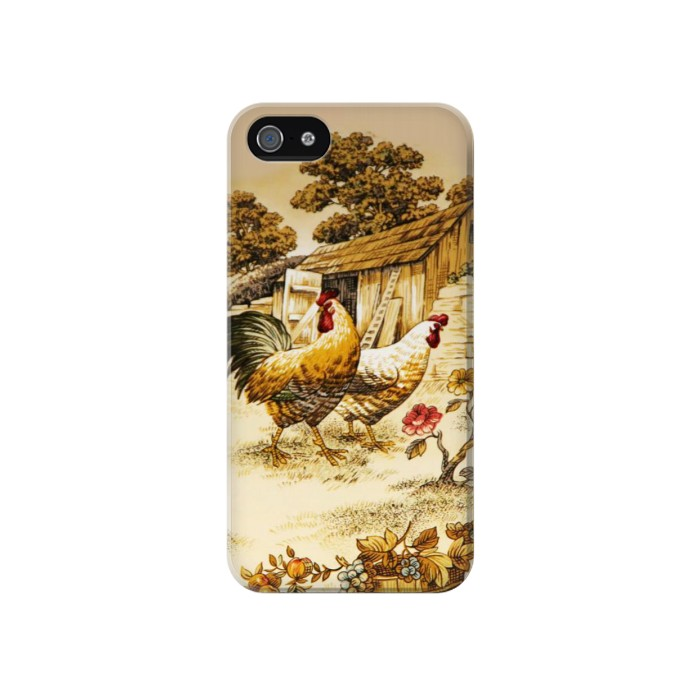 Printed French Country Chicken Iphone 4 Case