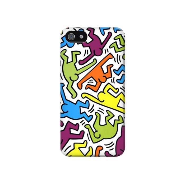Printed Keith Haring Iphone 4 Case