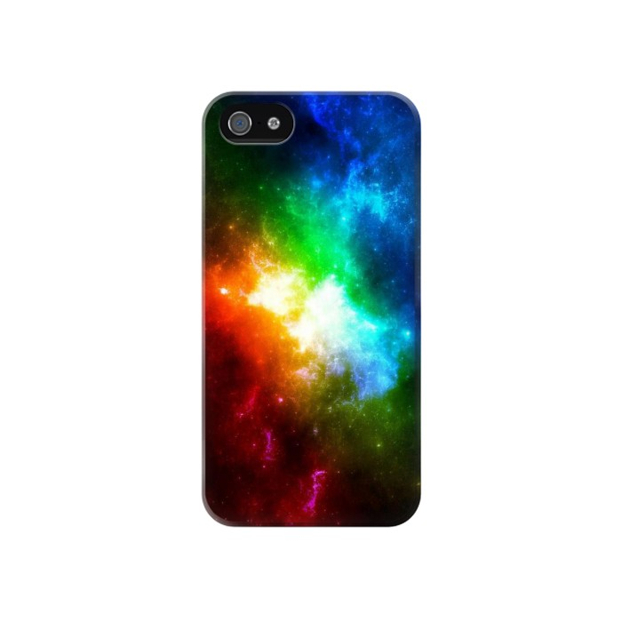 Printed Colorful Rainbow Space Galaxy Iphone 4 Case