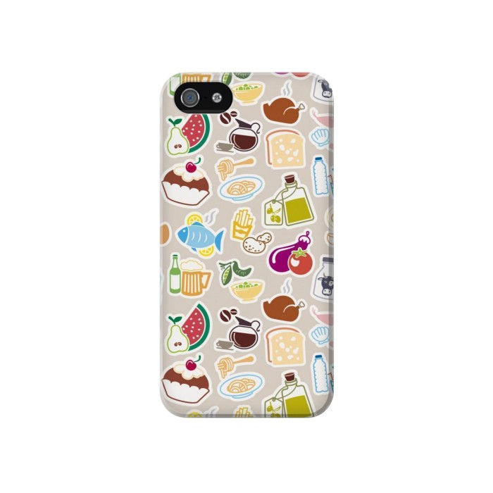 Printed Food and Drink Seamless Iphone 4 Case