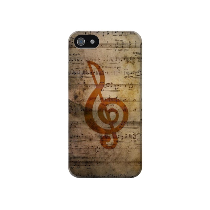 Printed Sheet Music Notes Iphone 4 Case