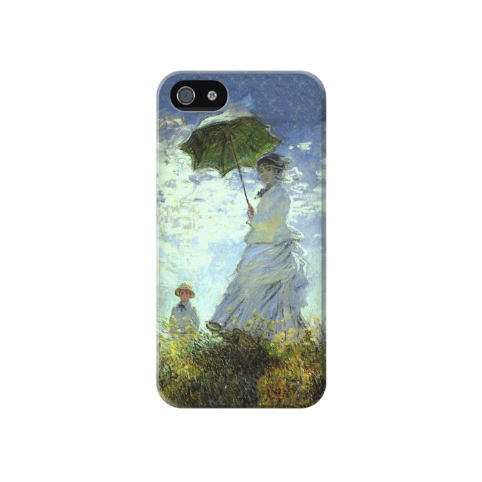 Printed Claude Monet Woman with a Parasol Iphone 4 Case