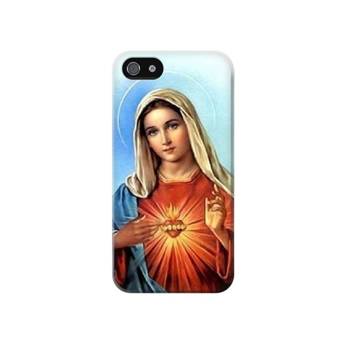 Printed The Virgin Mary Santa Maria Iphone 4 Case