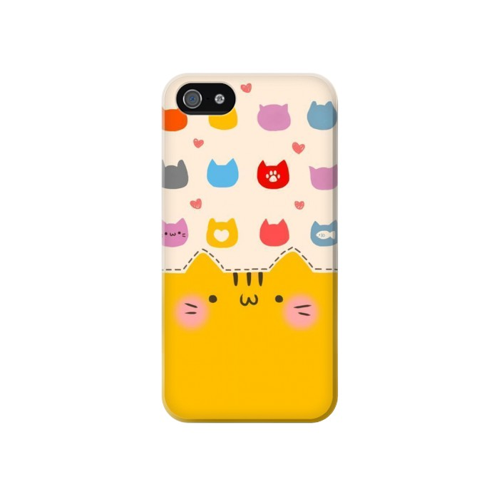 Printed Cute Cat Pattern Iphone 4 Case